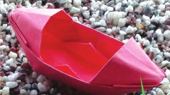 乌篷船折纸教程