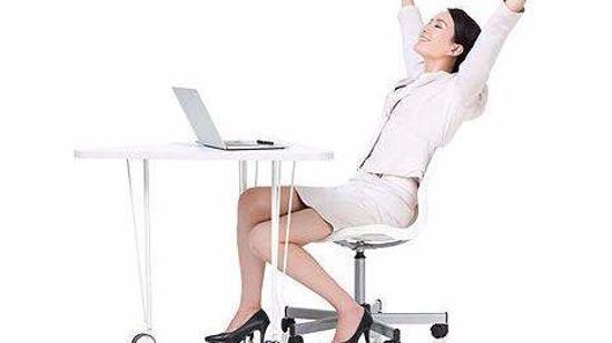 办公室减肥瘦身方法I(女):飞鸟式