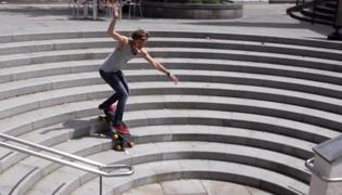 滑板教学Ⅷ:滑行下台阶