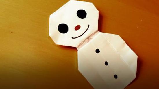 雪人折纸步骤
