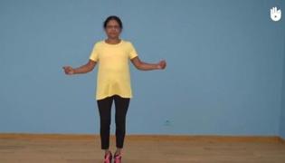 老年人有氧运动Ⅱ:双脚并拢跳跃