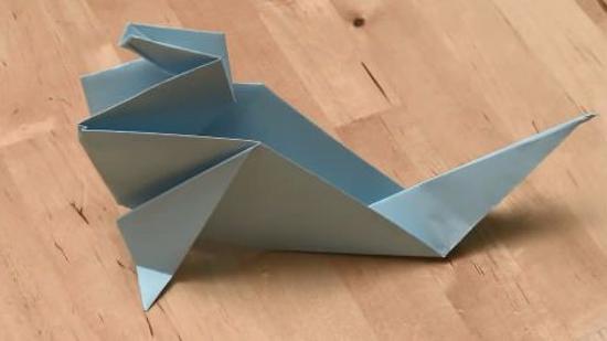 少儿折纸海豹