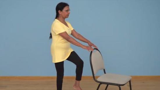 老年人平衡性练习Ⅰ:单腿站立(单人篇)