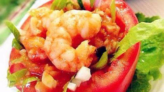 番茄酿虾的做法