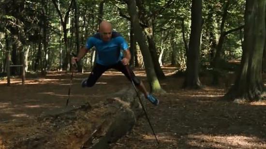 北欧式健走训练Ⅷ:旋转跳练习