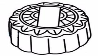 月饼简笔画的画法