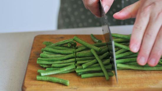 如何切绿豆角
