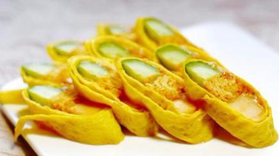 黄瓜蛋皮卷的做法
