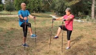 北欧式健走的热身运动Ⅲ:脚踝和膝盖热身运动