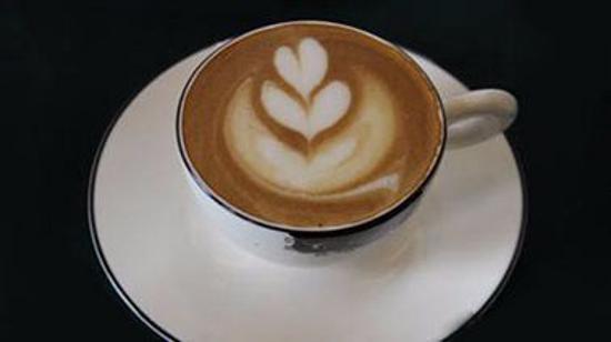 咖啡拉花:月亮和心