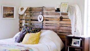 循环利用资源:自制床头板