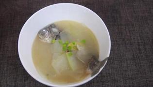 鲫鱼冬瓜汤的做法