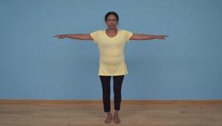 老年人平衡性练习Ⅳ:单手触膝(单人篇)
