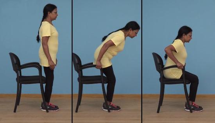 老年人日常生活动作训练Ⅳ:正确地坐到椅子上