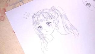 双马尾女孩简笔画