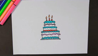 生日蛋糕简笔画