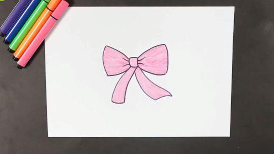 怎么画蝴蝶结