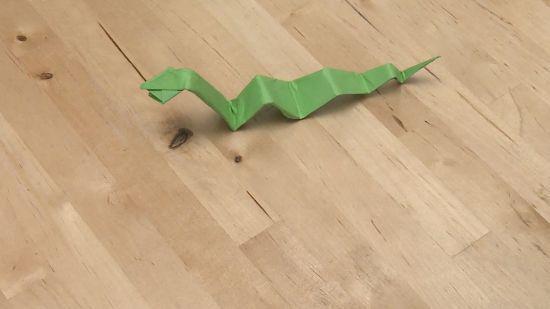 蛇的折纸方法