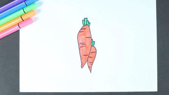 萝卜怎么画