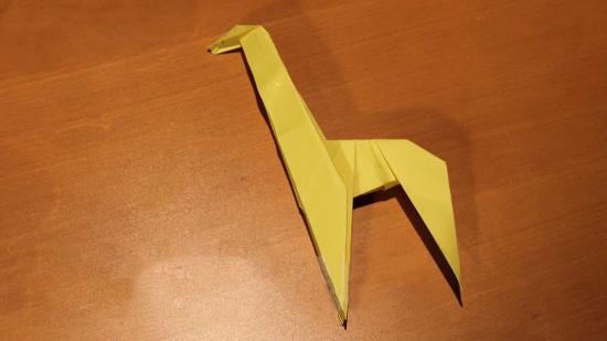 长颈鹿的折法
