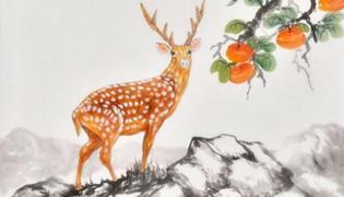 鹿的画寓意是什么