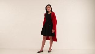 红色大衣搭配方案