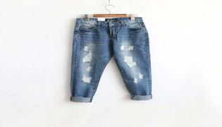 牛仔裤怎么磨白做旧