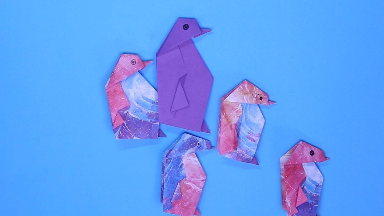 企鹅的折法 企鹅怎么折