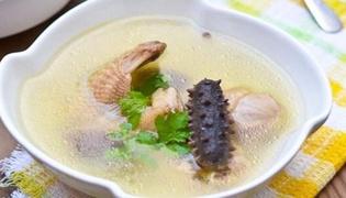 海参炖鸡的做法