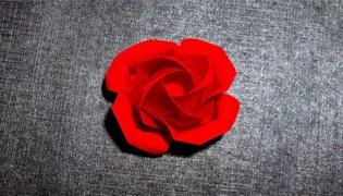 玫瑰花的折法技巧