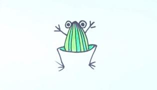 青蛙简笔画