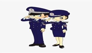 警察绶带的佩戴方法
