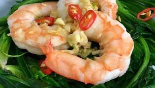 虾仁拌菠菜的家常做法是什么