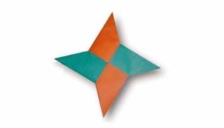 飞镖怎么折折纸教程