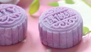 紫薯冰皮月餅的做法