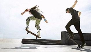 滑板教学Ⅸ:滑行上台阶
