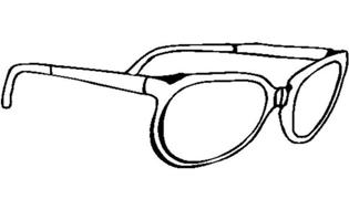 眼镜怎么画