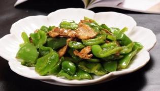 菜椒炒肉的做法
