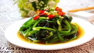 涼拌菠菜的做法