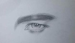 男人眼睛的画法