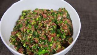 猪肉韭菜饺子馅做法