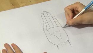 如何画手掌