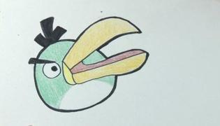 愤怒小鸟的小绿鸟怎么画