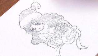圣诞可爱女孩画法