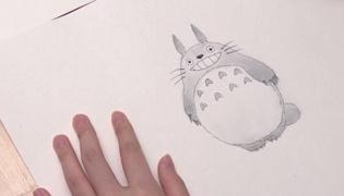 龙猫怎么画Ⅱ