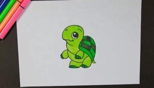 乌龟怎么画
