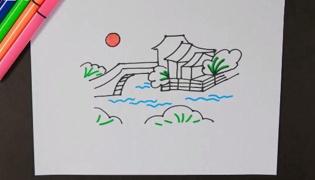 风景简笔画
