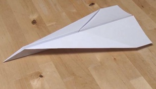 纸飞机的折法