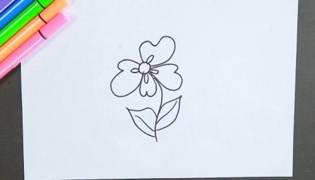 花朵简笔画