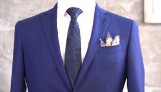 西装口袋巾折法